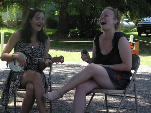 Tracy and Izzy performing in 2012 at the Spencer Creek Growers Market