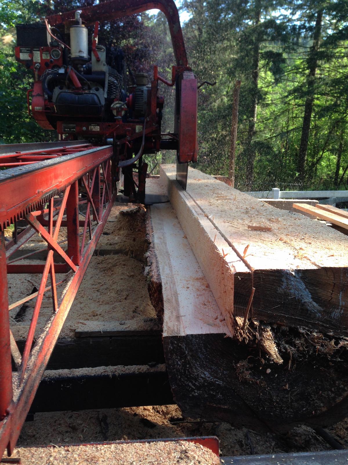 Milling 2x8's from a neighbor's fir log